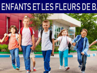 les enfants et les fleurs de bach
