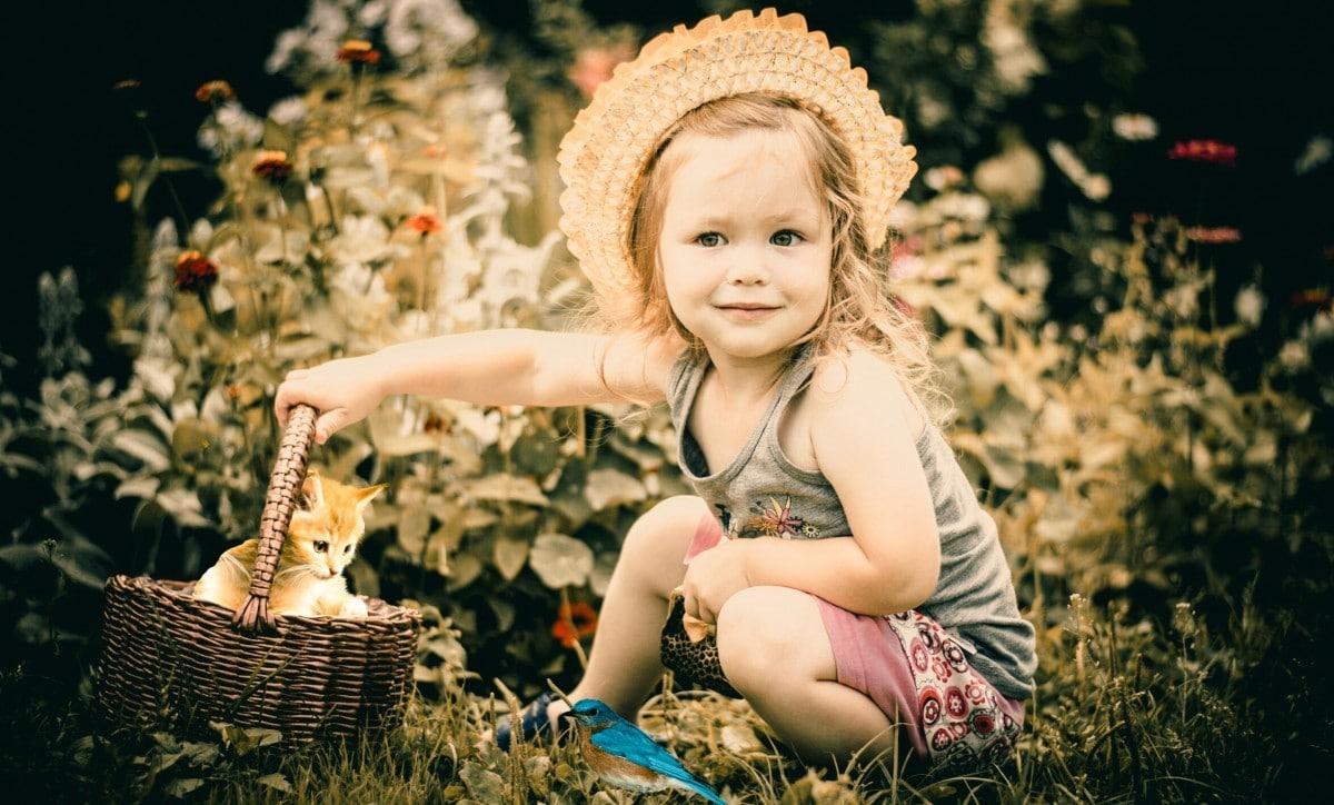 Parents enfants et fleurs de bach